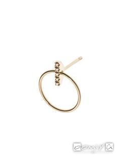 Diamond Doornocker Earring w/Hoop