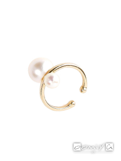 Double Pearl Ear Cuff