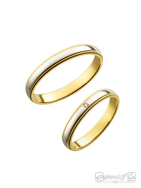 トゥルーラブ プラチナ900&K18イエローゴールド - M377/M377D 結婚指輪(マリッジリング)