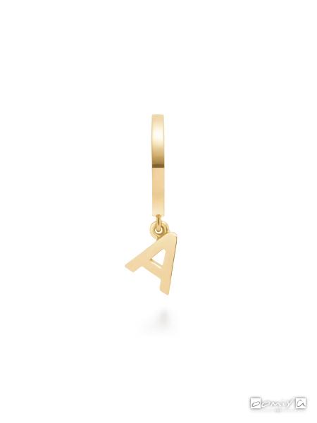 アーカー|プルミエトワールプレーンイニシャル(A) ピアス - AB180601040A