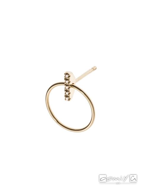 ヒロタカ|Diamond Doornocker Earring w/Hoop - GS14KDE