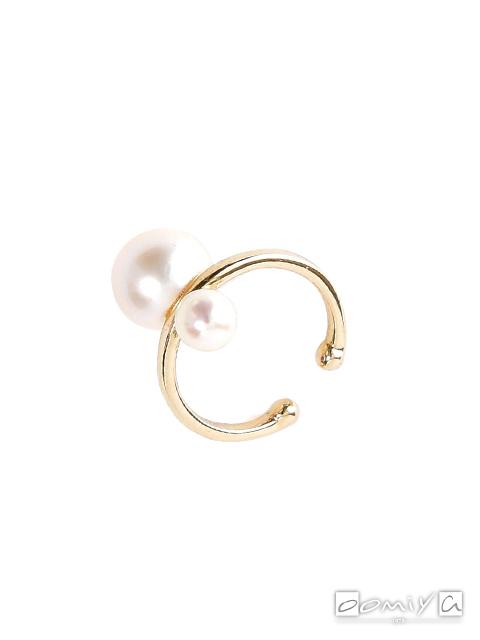 ヒロタカ Double Pearl Ear Cuff - PE12KPF