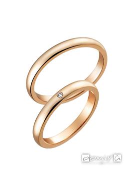 トゥルーラブ K18ピンクゴールド - K007P / K007PD 結婚指輪(マリッジリング)
