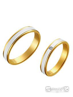 トゥルーラブ|プラチナ900&K18イエローゴールド - M097 / M097D 結婚指輪(マリッジリング)