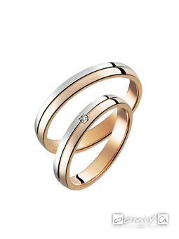 トゥルーラブ プラチナ900&K18ピンクゴールド - M375 / M375D 結婚指輪(マリッジリング)